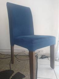 Cadeira acochoada MDF escuro