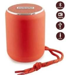 Caixa De Som Bluetooth 5w Am/fm Usb Micro Sd Cor Vermelha
