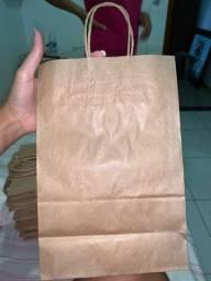 Vendo sacolas kraft tamanho p