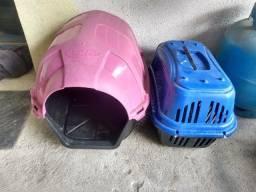 Casinha e caixinha de transporte PET