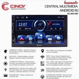 Central Multimídia Cinoy Lançamento com GPS (instalada e com garantia)