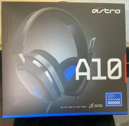 Headset Astro Gamer A10 para PlayStation, Xbox, PC, Mac - Preto/Azul