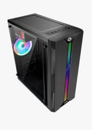 Gabinetes Gamer Led RGB Com Botão Controlador