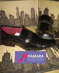 Sapato social verniz cor preto