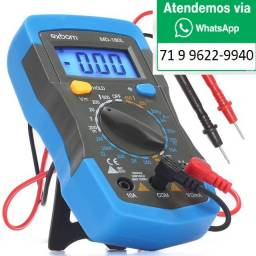 Multímetro Digital Profissional Portátil Bip Hold Visor Iluminação LE-982