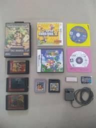 Jogos e Acessórios originais para Mega Drive / Game Boy / DS Lite / DS / 3DS / PSX / PS2
