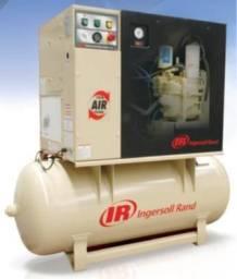 Compressor de ar Ingersoll Rand de parafuso lubrificado velocidade fixa com secador ? UP6-