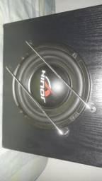 Subwoofer de qualidade (amplificado) , toca muito totalmente conservado