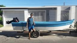 Barco 5mtrs x 1.60 x 0.60 novo, com motor e carreta - 2018