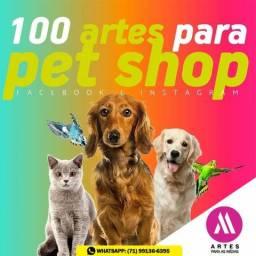Artes para Pet Shop, artes para redes sociais, pacote artes profissionais para as mídias