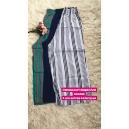 Calças pantacourt e pantalona