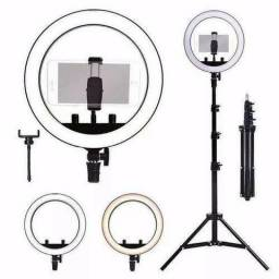 Kit Iluminador Ring Light Com Tripe Led Ring light Completo profissional