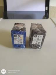 Cartuchos de tinta HP números 21 e 22 pra Impressora HP série 1410