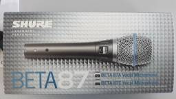 Microfone Shure Beta87A Condenser Made In México