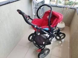 Bebê conforto carrinho e base