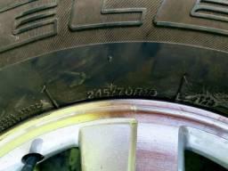 Jogo de rodas e pneus aro 16 originais Chevrolet S10 LT
