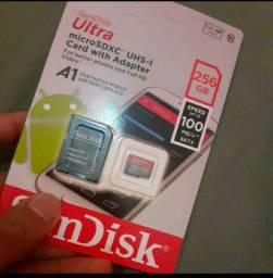 Vendo Cartão de Memória Original SanDisk 256gb