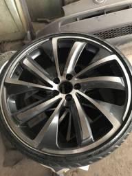 Rodas 20 5x114 com 4 pneus novos