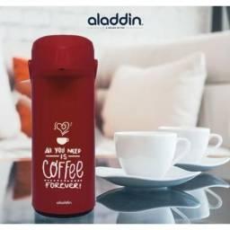 Garrafa de Café Térmica Sistema de Pressão Decorada Coffee Forever 1L Aladdin