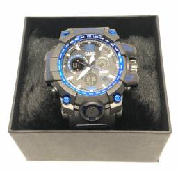 Relógio Casio G-Shock GPW-1000 Caixa Azul e Pulseira Preta Garantia Novo Na Caixa