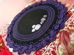 Decoração tapete em crochê