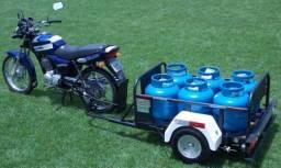 Carretinha para moto modelo Eco Gás Básico