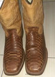 Bota pele de cobra, bota pele de elefante e botina couro sintético original goyazes