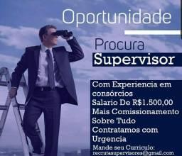 Vagas para supervisor com experiencia em consórcio