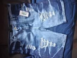 2 bermudas jeans Tam48 por 100