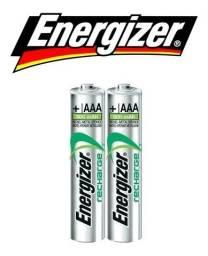 2 - Pilha Aaa Recharge Energizer 700mah 1.2v Palito recarregável