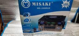 Aparelho de som-  misaki-  modelo- ms-3309-  não  toca vinil.
