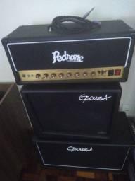 Amplificador Pedrone MK II + Gabinete 2x12 Celestion V30