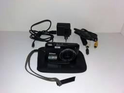 Maquina fotografica digital nikon coolpix s4100 preta usado