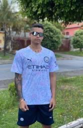 Manchester City Football Club branco camisa