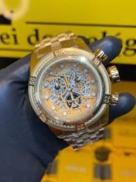 Título do anúncio: Relógio invicta Bolt Zeus dourado / garantia