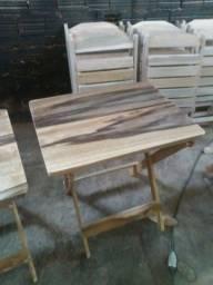 Vendo mesas dobrável em madeira 150 unidade