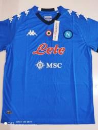 Camisa Napoli Home Kappa 20/21 - Tamanho: G
