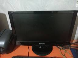 Pc gamer + monitor + estabilizador + teclado + mouse gamer multilaser