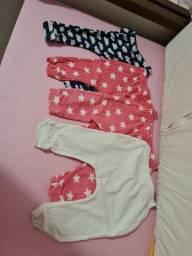 Conjunto de calças - tamanho 3 meses