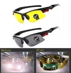 Óculos Visão Noturna P/ Dirigir a Noite Ciclismo *
