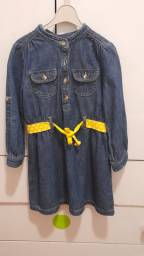 Vestido infantil jeans importado marca carter's