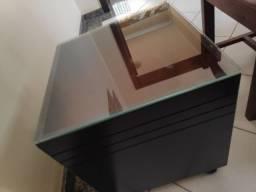 Cachapot quadrado de madeira (acompanha vidro)
