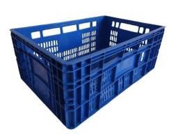 Título do anúncio: Caixa Plástica Hortifrúti Agrícola Colorida