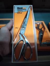 Tesoura aço inox 24cm cromada top