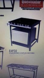 Fogão Industrial Extra 4 Bocas 2 Duplas Forno E4d2f