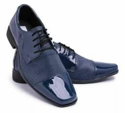 Sapato social azul,frete grátis