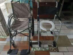 Conjunto de cadeira rodas e banho