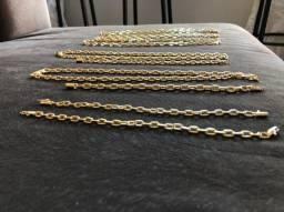 Correntes , pulseiras banhadas a ouro 18k