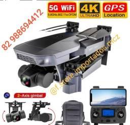 Drone Sg907 Pro Câmera Dupla Ultra HD 4k Wifi 5g Gimbal 2 Eixos 2 Baterias 1.5K Lançamento