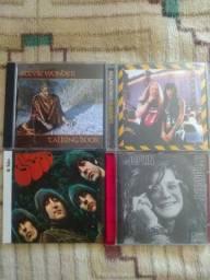 Combo 5 cds Stones, Beatles, Janis Joplin, Aretha e Stevie Wonder